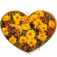 해바라기하트꽃상자